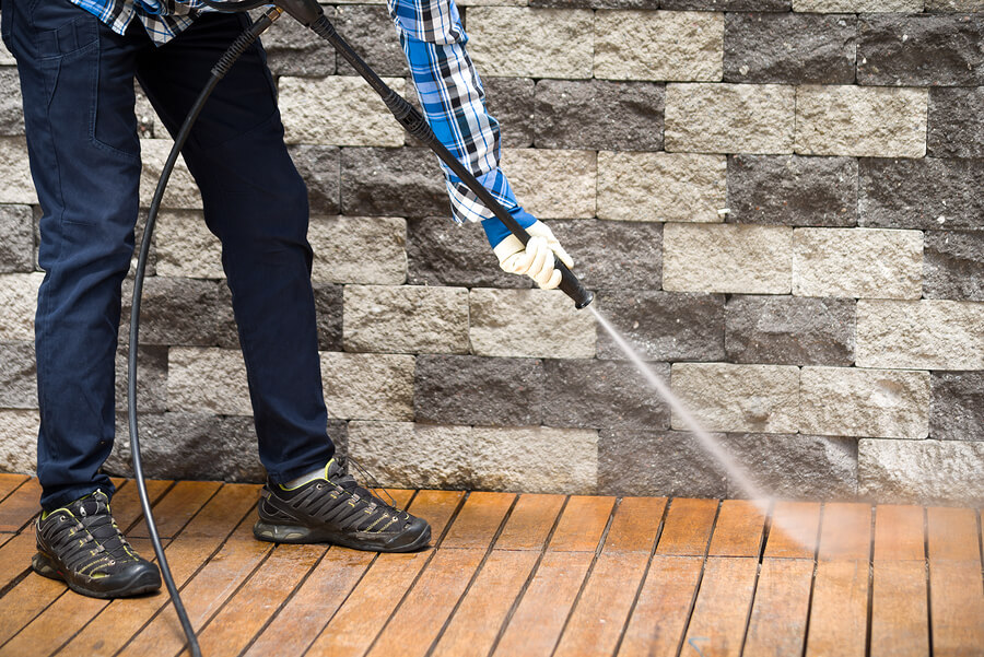 Cleaning-decking