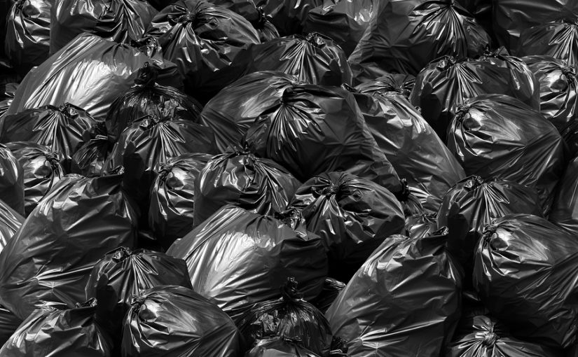 A picture of multiple bags of waste.
